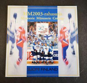 Coffret BU 8 pièces EURO FINLANDE 2003 Championnat du Monde de Hockey