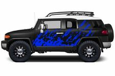 Custom Vinyl Graphics Decal Burst Wrap Kit for Toyota FJ Cruiser 2007-2014 BLUE