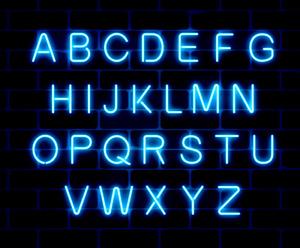 Neon Letter LED Blue Light Art Decorative Lights Wall Decor Signs 22cm