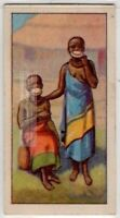 Native African Women With Lip Plates Plugs  80+  Y/O Ad Trade Card