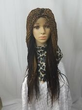 """Women Hand Made Medium Senegalese Braided Wig 3"""" Frontal 29"""" Long Color 27 and33"""