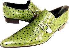 Chelsy INSOLITO -UOMO scarpa pantofola in pelle verde struzzo suola cuoio 43