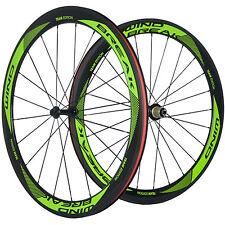 Conjunto de ruedas de carbono Cortaviento Remachador 50mm brillante R13 Bicicleta de Carretera Ruedas de Carbono
