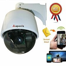 New Wireless IP WiFi Security Pan Tilt Camera 3x Optical Zoom PTZ Outdoor Webcam
