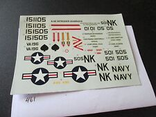 Decal Sheet from Revell A-6E Intruder  Kit # 4549  (Decal Only) (461)