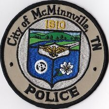City of McMinnville Police Patch Tennessee TN NEW !!!