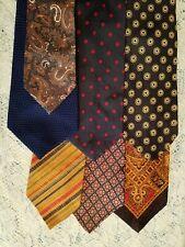 7 Vintage Wide Neck Ties Unbranded