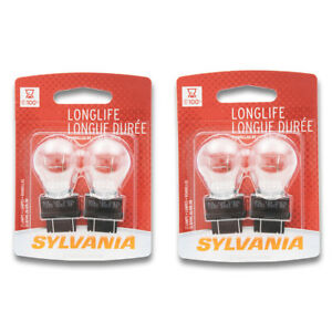 Sylvania Long Life - Two 2 Packs - 3157LL Light Bulb Brake Tail Turn Signal zb