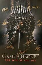 Signed Collectible  GAME OF THRONES Poster