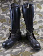 """WW2 VTG GERMAN ARMY SOLDIERS """"ANKLE BOOTS"""" LEATHER LEGGINGS"""