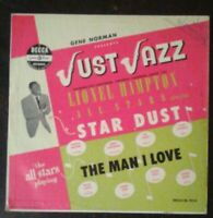 "LIONEL HAMPTON ALL STARS Just Jazz 10"" LP Gene Norman Presents - Decca 1954 VG"