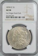 1878-CC Morgan Silver Dollar NGC AU 58 No Reserve Auction - 99C Opening Bid