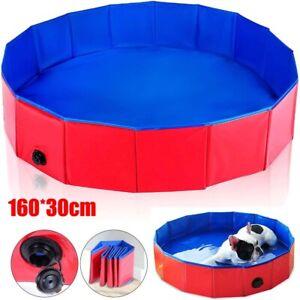 XXL Large Dog Puppy Pet Bath Swimming Pool Portable Folding Paddling Bathtub UK