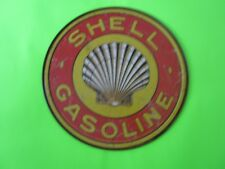 tin metal home garage repair shop man cave decor service station fuel shell