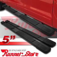 """For 2015-2020 Ford F150 Super Crew Cab 5"""" Running Board Side Step Nerf Bar BLK S"""