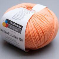 Schachenmayr Merino Extrafine 170 - 023 apricot 50g Wolle (8.50 EUR pro 100 g)