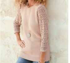 63# cotton traders Lace Sleeve Jumper size 12 RRP£35