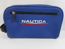 Vtg Nautica Competition Bag Travel Shaving Toiletries Makeup Faux Rubber Guc