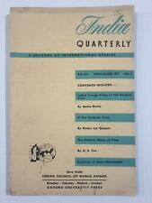 India Quarterly. Journal Intl Affairs. V 7. No 2. 1951. Tibet, Asian Nationalism