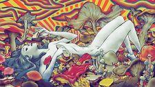 "Psychedelic Trippy Art Silk Cloth Poster 24 x 13""  Decor 90"