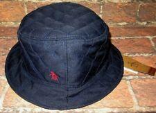 MENS PENGUIN QUILTED NAVY BLUE BUCKET HAT CAP SIZE L/XL