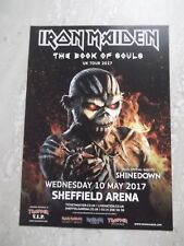 Iron Maiden - The Book Of Souls Advert for Sheffield Arena tour