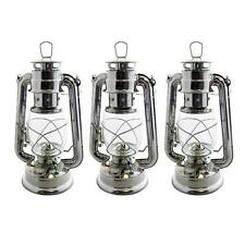 3 x PARAFFIN HURRICANE STORM LANTERN LIGHT LAMP OIL PARAFIN CAMPING NEW