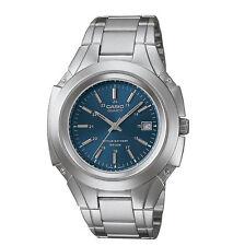 Casio MTP3050D-2AV, Men's Analog Watch, Silvertone Metal Band, Blue Dial, Date