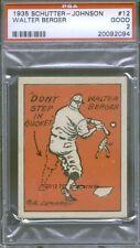 1935 Schutter Johnson 12 Walter Berger PSA 2 (2094)