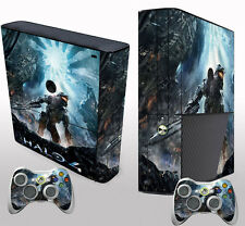 New Style Halo Sticker Decals Cover for Xbox 360 E Console & 2 Controller Skins