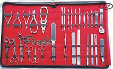 30 PCS FULL RANGE GERMAN STAINLESS STEEL MANICURE AND PEDICURE TOOL KIT/SET