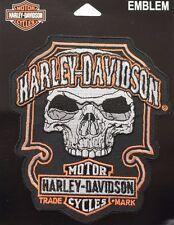 Genuine Harley Davidson Dark Skull Bar & Shield Emblem Patch EM147643