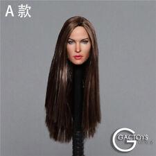 1/6 Head Sculpt GACTOYS Megan Fox Female Straight /curly hair Head Carved GC029