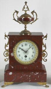 Antike Japy Frères Tischuhr, Kaminuhr, Pendule, Marmoruhr