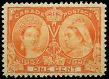 Canada #51 mint VF+ OG NH 1897 Queen Victoria 1c orange Jubilee CV$120.00