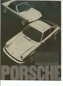Five (5) Original Porsche 911 or 914 vintage print ads