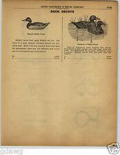 1922 PAPER AD Mason's Duck Decoy Johnson's Folding Paper Leg Irons Shakles