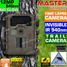 Trail Camera Hunting Video Cam 720P 940nm Smart Guard IR Time Lapse Waterproof