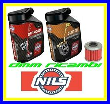 Kit Tagliando HONDA CRF 450 R X 12 + Filtro Olio NILS OFF ROAD 10W40 CLUTCH 2012