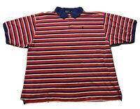 VTG 90s Men's Polo Ralph Lauren Red White Blue Short Sleeve Shirt Sz 4XL Pony