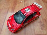 1/18 SCALE SOLIDO CLASSIC PEUGEOT 206 WRC #2 BURNS/REID MONTE CARLO 2003 CAR