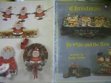 Christmas Ye Olde And The New Painting Book Dicken's Buildings, Carolers, Santas