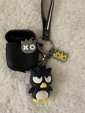 Hello Kitty Black Badtz Maru Cute Airpod Case KeyChain bag purse Charm