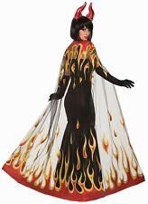 Devil Fire Cape Adult Costume Accessory NEW Demon One Size