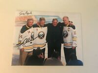 BUFFALO SABRES SIGNED FRENCH CONNECTION TERRY PEGULA RENE ROBERT PHOTO 8 X 10