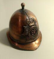 MINIATURE DIE CAST METAL POLICE HAT PENCIL SHARPENER / BELL VINTAGE  COLLECTIBLE