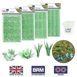 WWS Laser Cut Card Plants with Glue (Choose Plant Type) – OO/HO Model Diorama