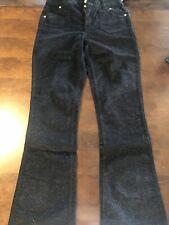 SO Black Glitter Corduroy Adjustable Waist Pants Girls Size 16