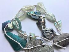 Stunning Genuine Ancient Roman Glass Beads With Patina 1000-1500 Yrs Old