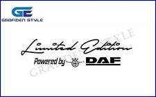 "1 Stück  ""Limited Edition Powerded by DAF"" LKW Aufkleber - Sticker - Decal !"